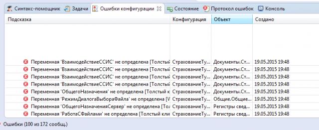 Наглядный список ошибок конфигурации