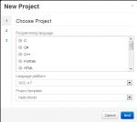 Compilr. Создание нового проекта