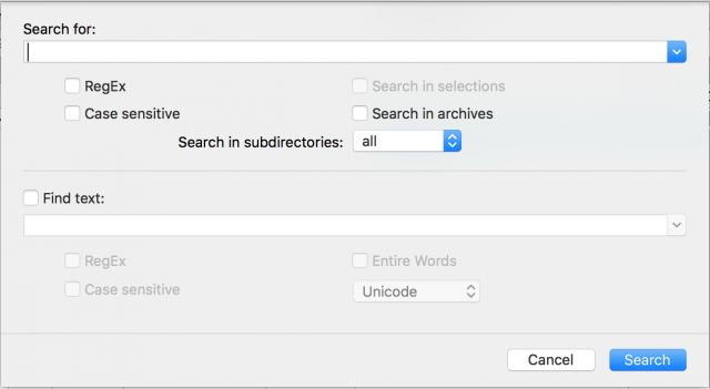 Встроенный механизм для поиска файлов