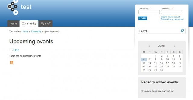Планирование событий в Drupal Commons