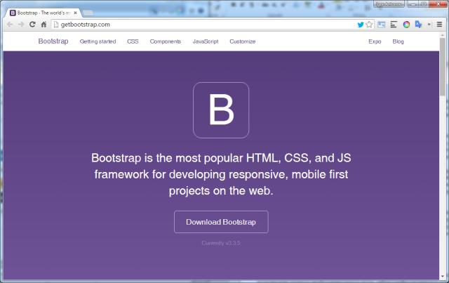 Рисунок 3. Официальный сайт Bootstrap
