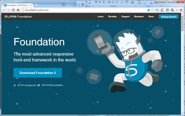 Рисунок 8. Официальный сайт Foundation