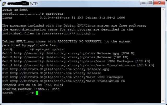 Обновляем репозитории в Debian 7