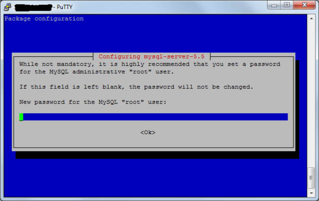 Установка mySQL в Debian 7