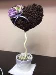 Кофейное сердце в День Святого Валентина