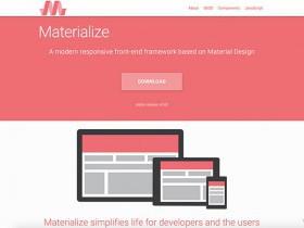 Materialize. Material Design, упакованный в CSS
