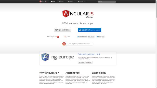 Официальный сайт angular.js
