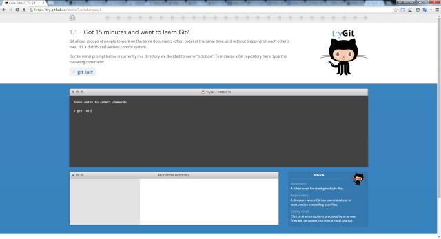 Рисунок 3. Интерактивный курс по Git