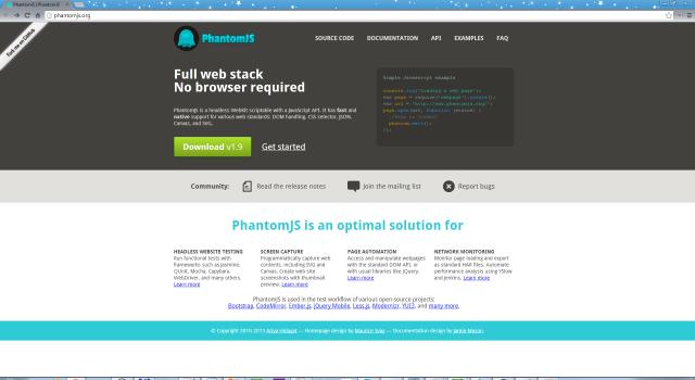 Официальный сайт Phantom.js